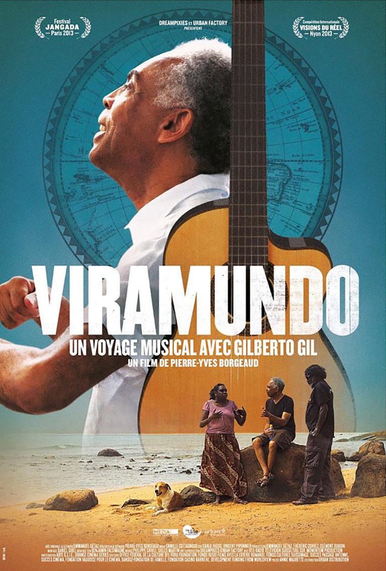 Official poster Viramundo, Un voyage musical avec Gilberto Gil